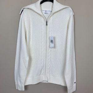 Tommy Hilfiger Zip Up Cardigan/Sweater NWT XL